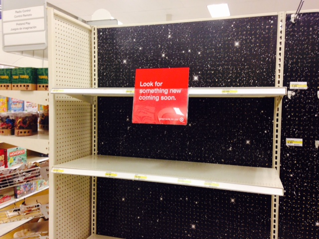 Target Shelves 2. Target is gearing up for the Force Friday release