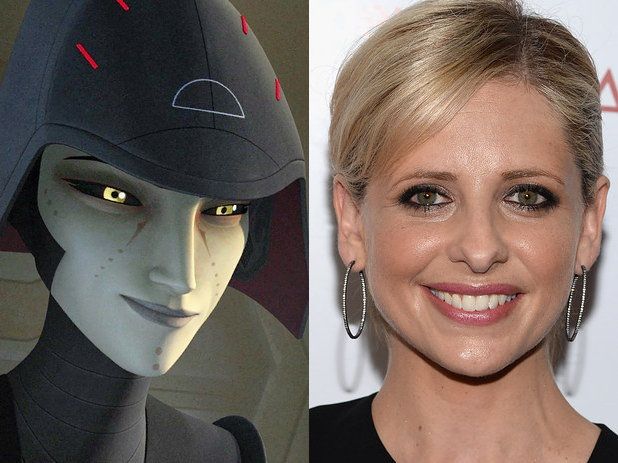 Actress Sarah Michelle Geller is playing the voice of the female inquisitor in Star Wars Rebels