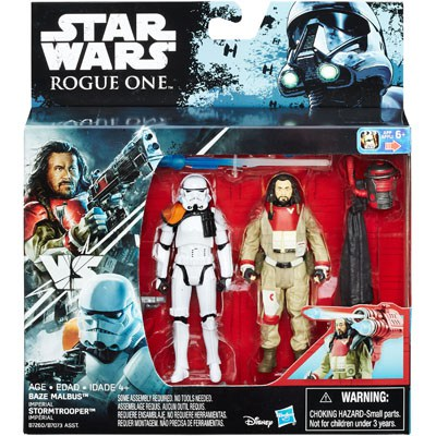 "3.75"" Rogue One Baze Malbus vs. Stormtrooper Figure 2-Pack 1"