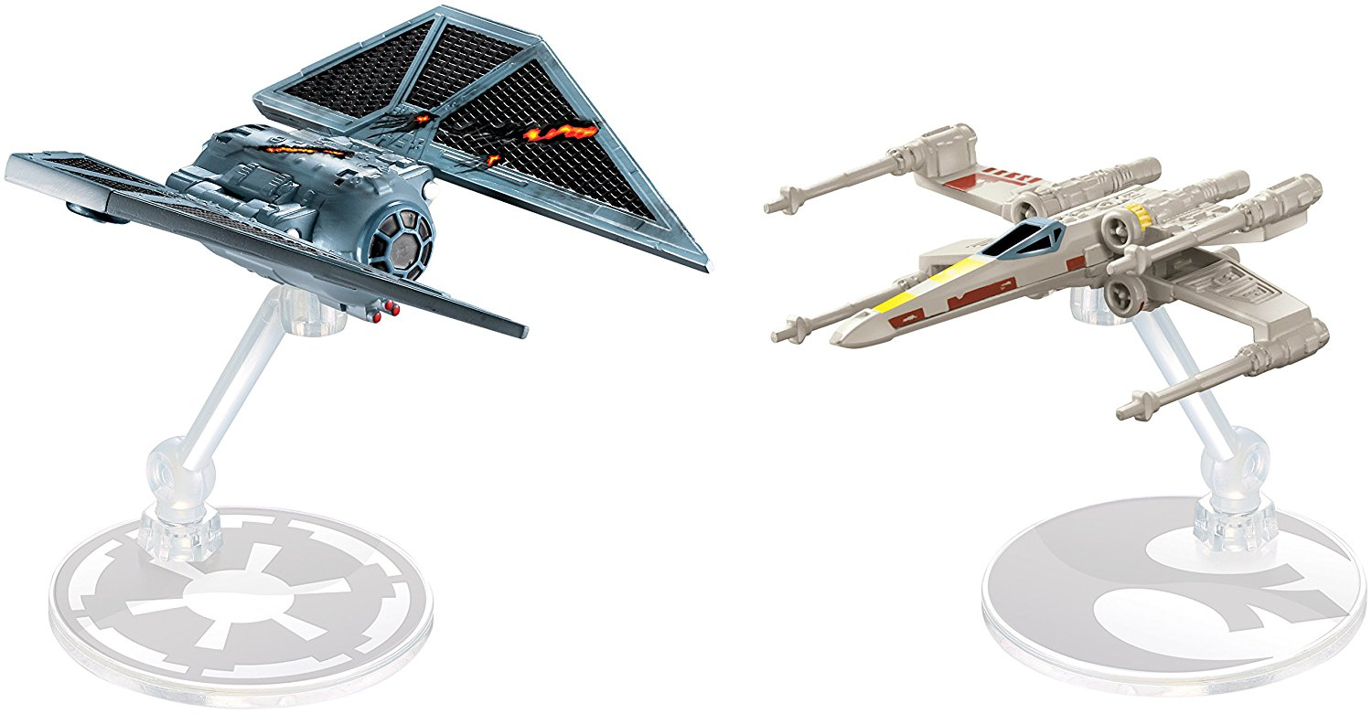 Hot Wheels Mattel Star Wars X-Wing Fighter Red 5 spaceship