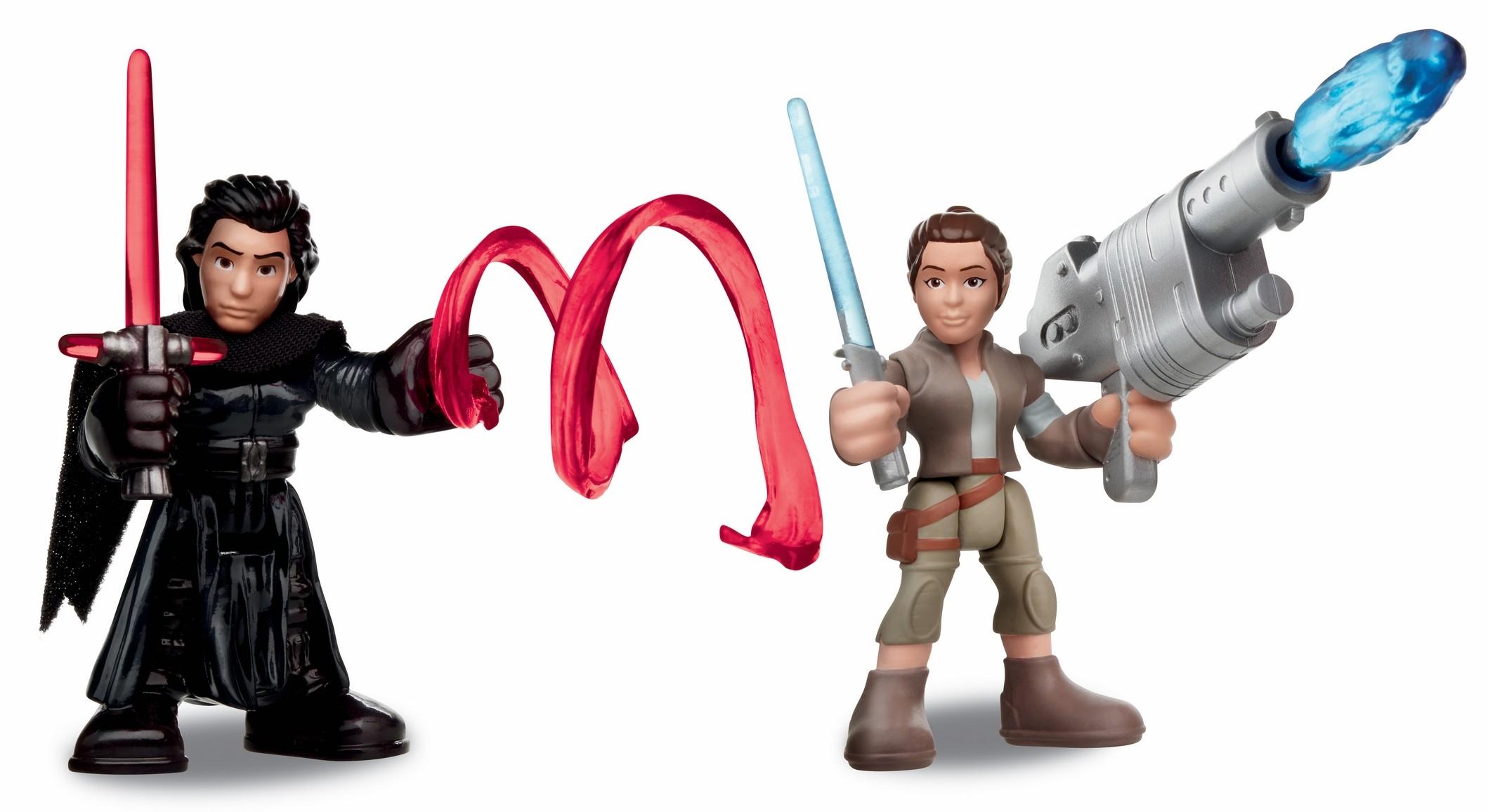 Force Awakens PlaySkool Galactic Heroes Rey and Kylo Ren figure 2-pack