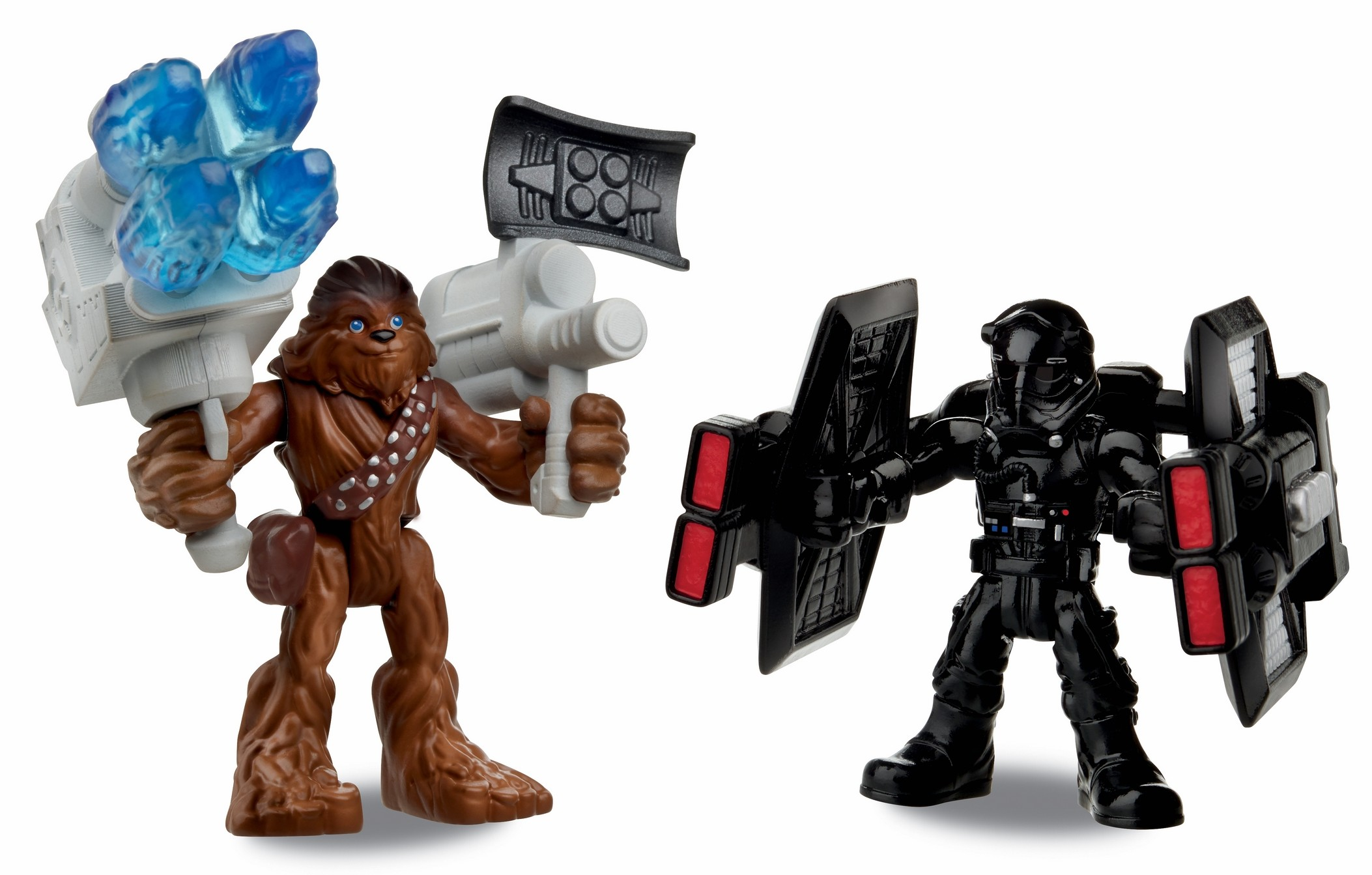 Force Awakens PlaySkool Galactic Heroes Chewbacca and First Order Tie Fighter Pilot figure 2-pack