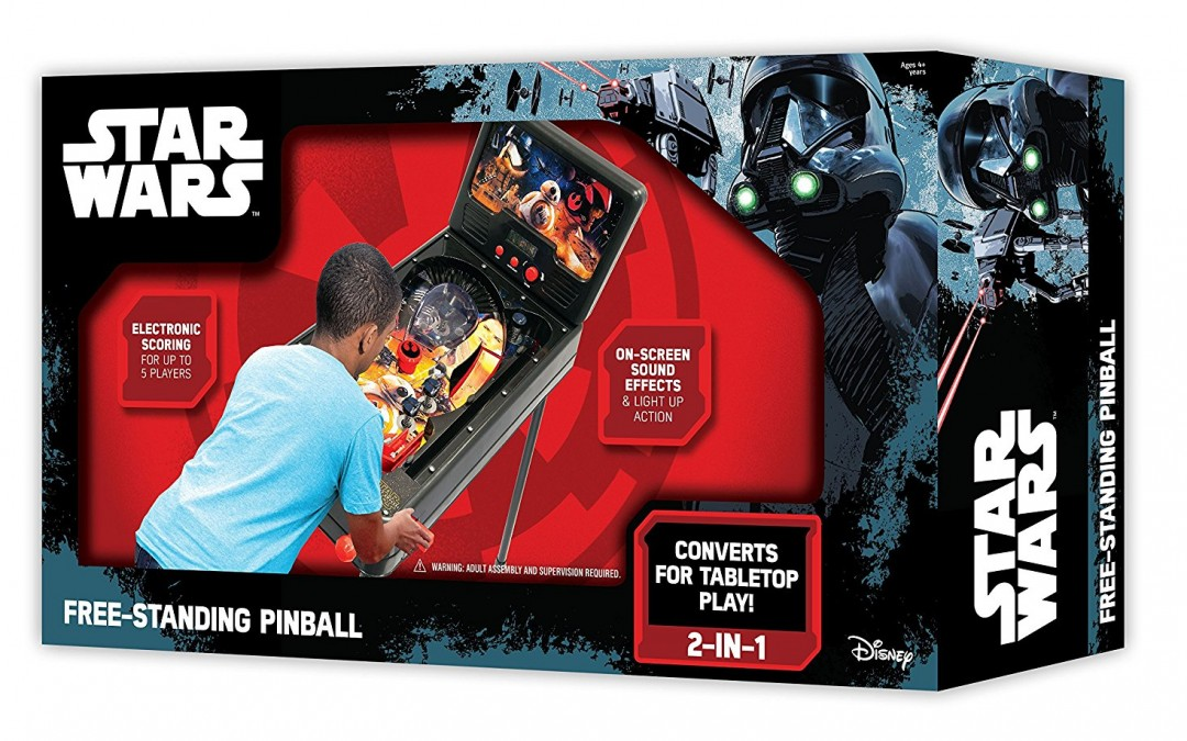 New Rogue One (Force Awakens) Free Standing Pinball Machine available on Amazon