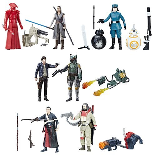 New Last Jedi 3 3/4-Inch Figure 2-Packs Wave 2 Set available on Amazon.com