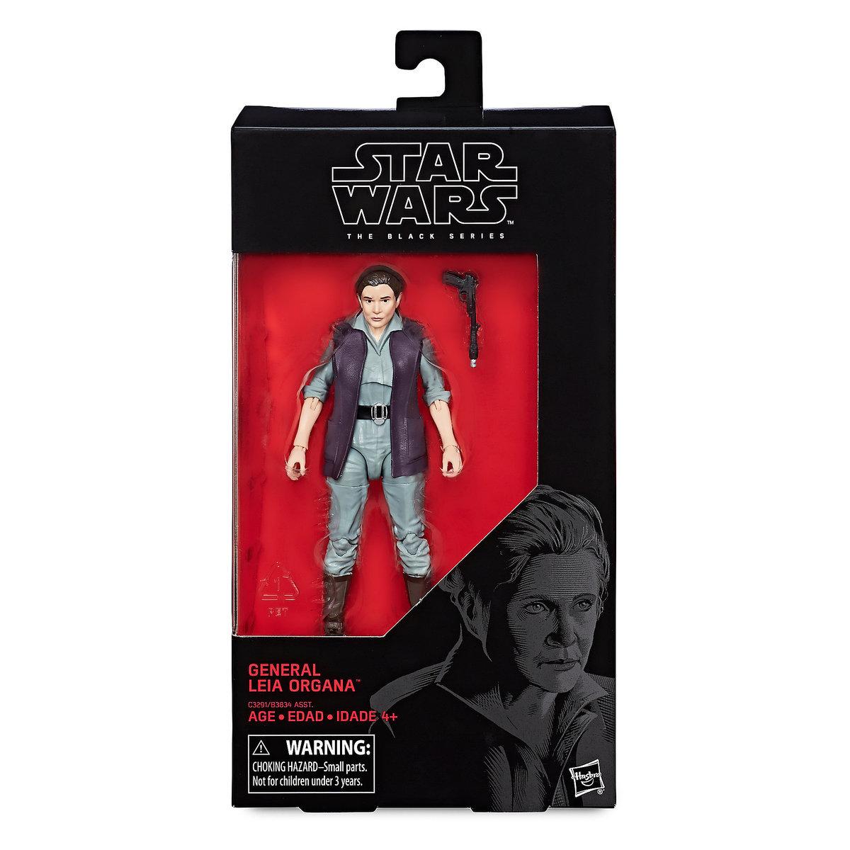 "TLJ 6"" General Leia Organa Black Series Figure 1"