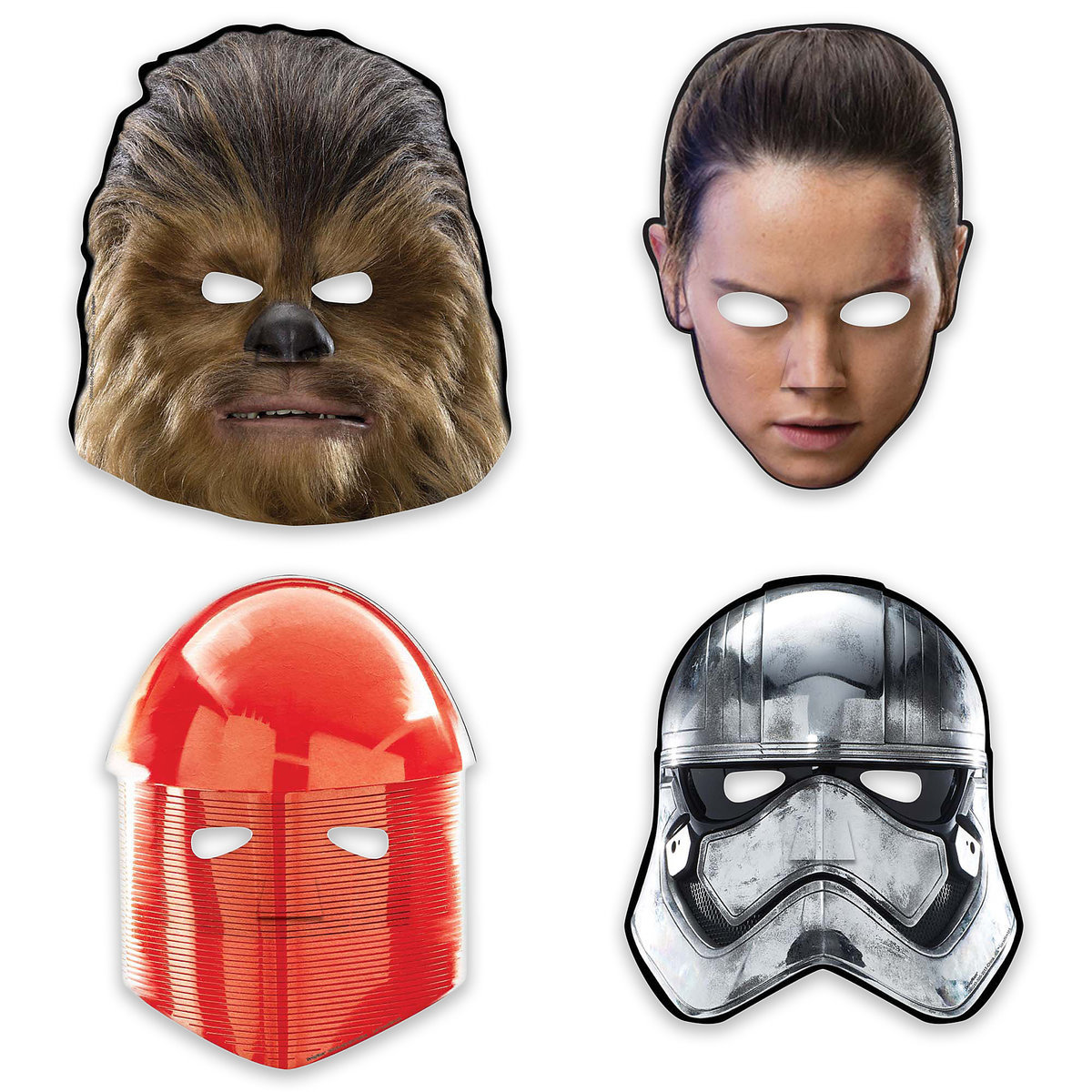 TLJ Party Character Paper Masks Set 1
