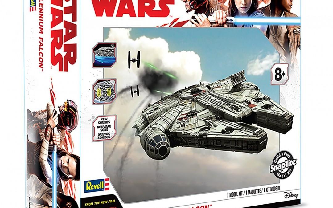 New Last Jedi Millennium Falcon SnapTite Model Kit available on Amazon.com
