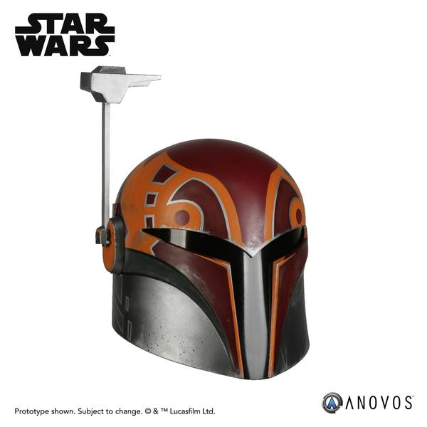 New Star Wars Rebels Sabine Wren Helmet accessory now available for pre-order on Anovos.com