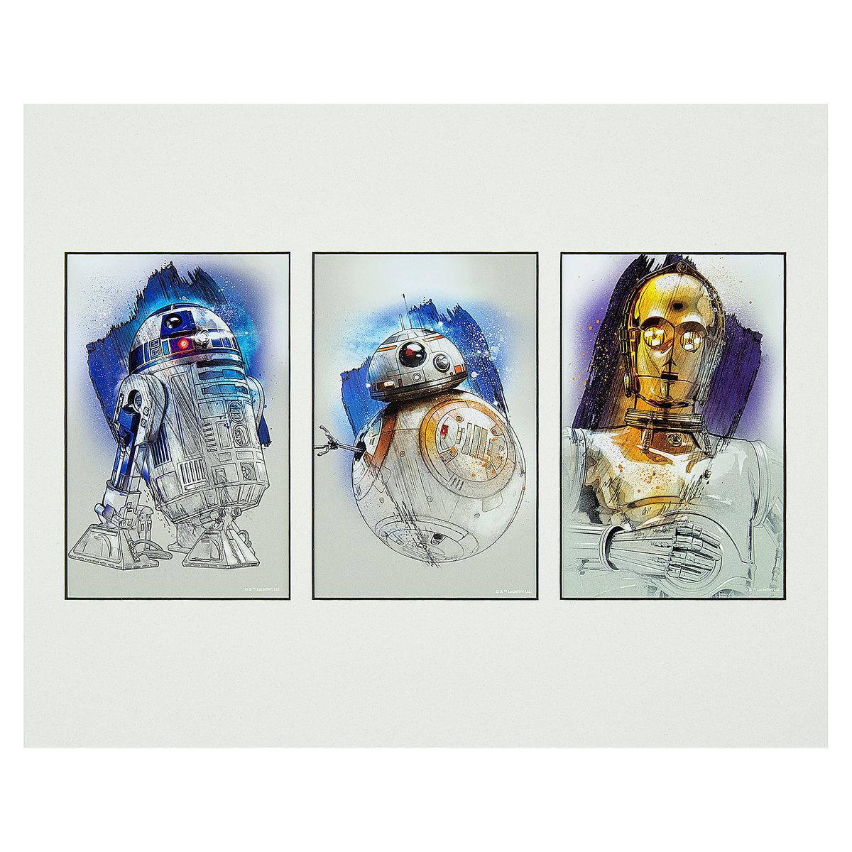 TLJ Droids Deluxe Art Print