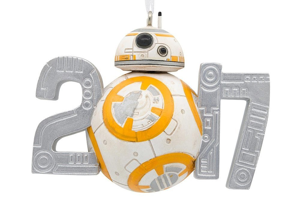 New Last Jedi BB-8 Dated 2017 Holiday Christmas Ornament available on Amazon.com