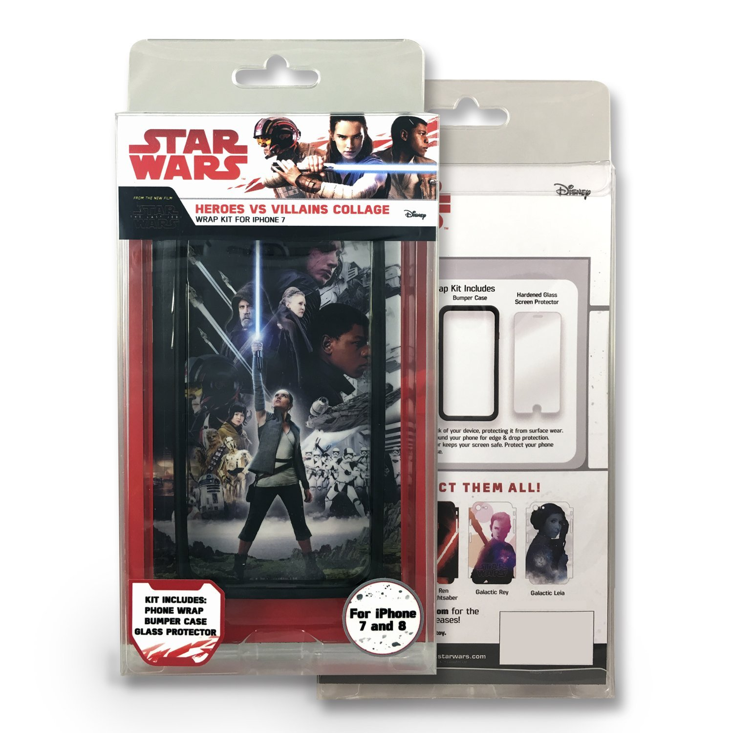 TLJ Heroes Vs. Villians Collage iPhone 7 & 8 Wrap Kit