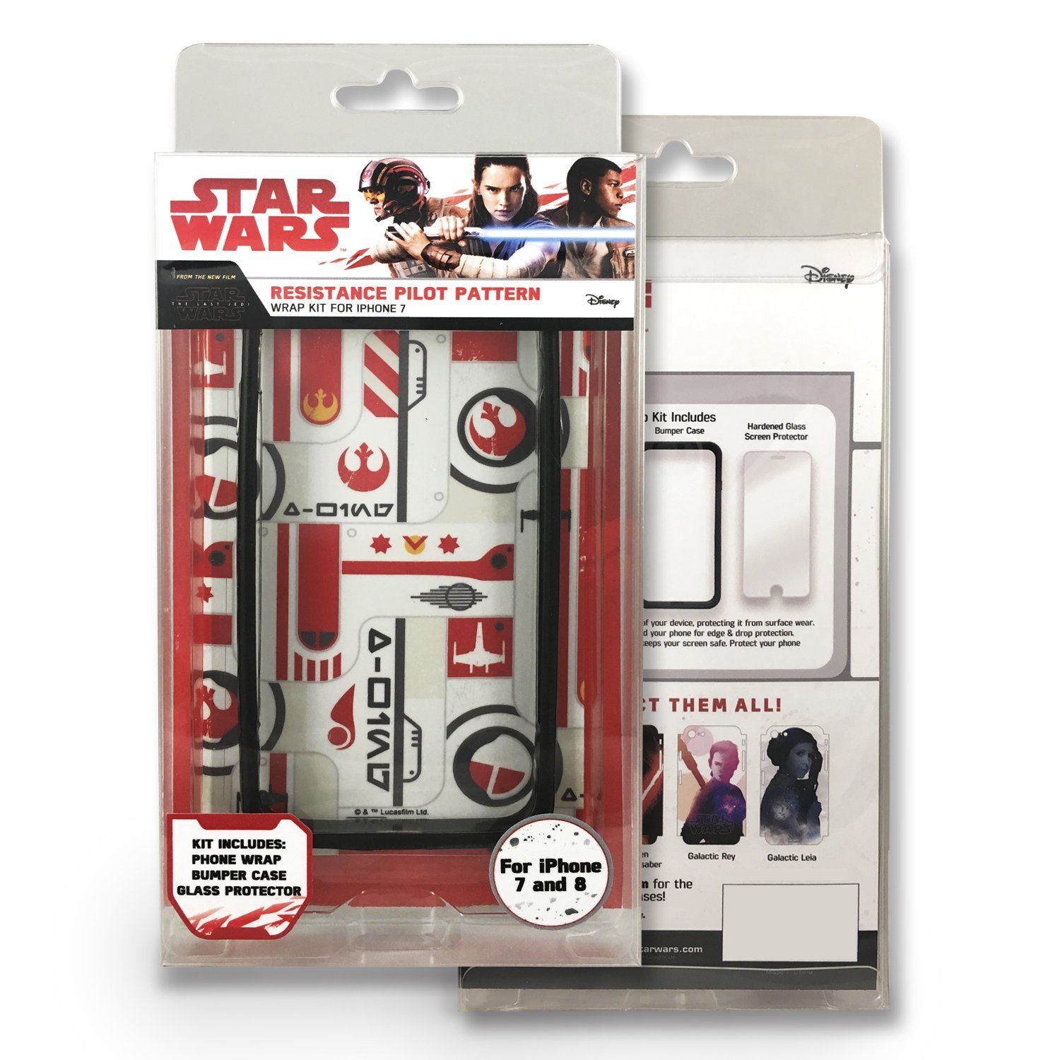 TLJ Resistance Pilot Pattern iPhone 7 & 8 Wrap Kit