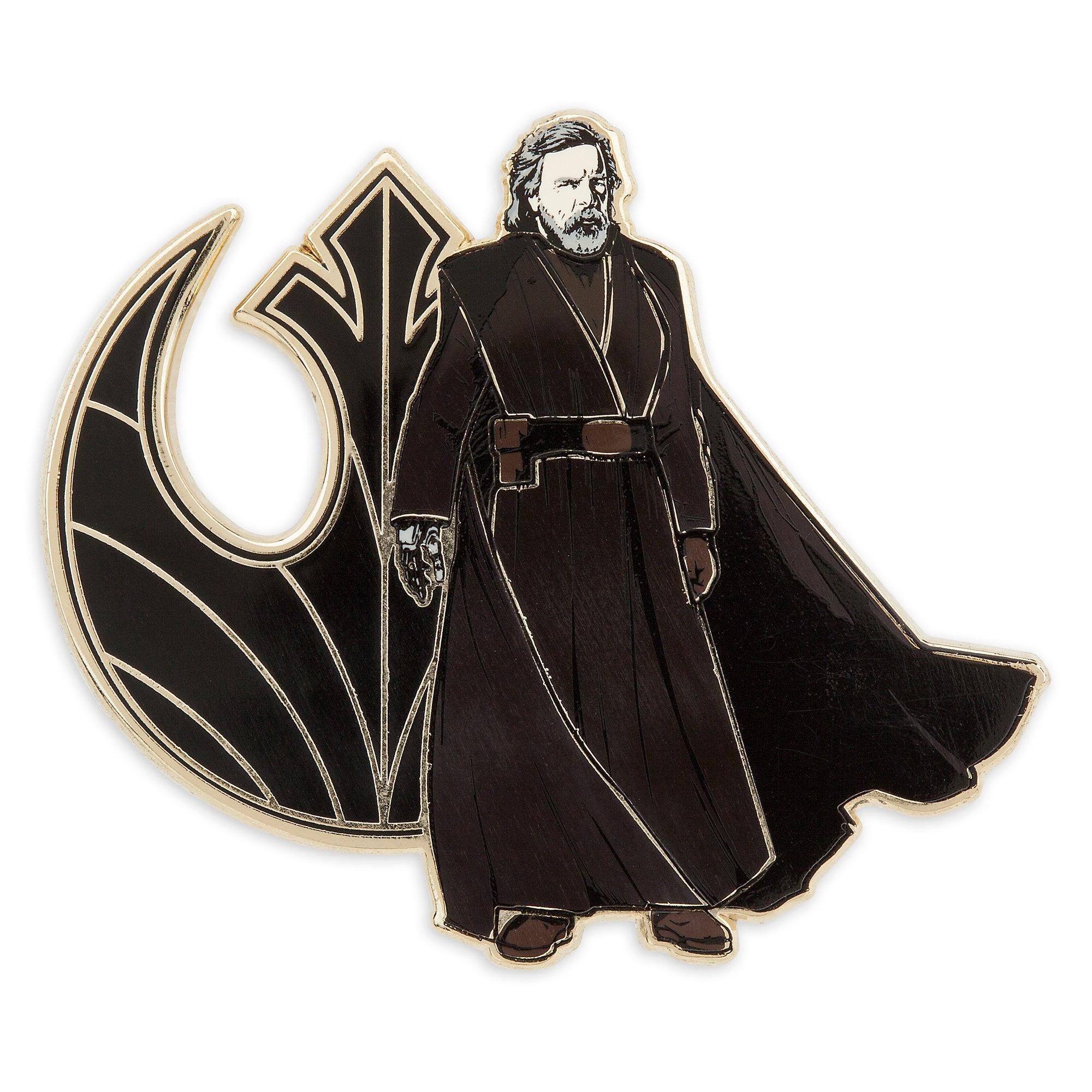 TLJ Luke Skywalker Pin & Lithograph Set 2