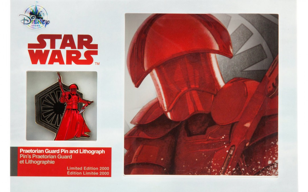 New Last Jedi Praetorian Guard Pin & Lithograph Set available on ShopDisney.com