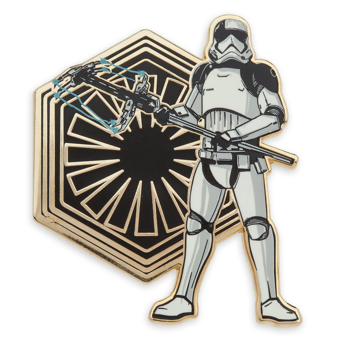 TLJ First Order Executioner Stormtrooper Pin & Lithograph Set 2