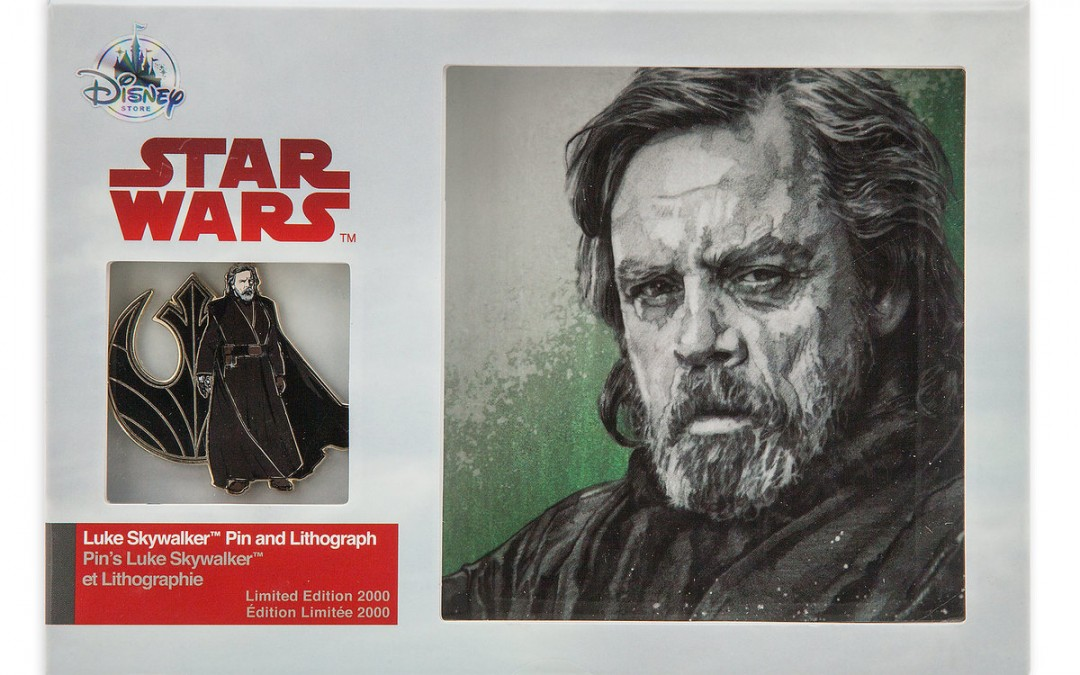 New Last Jedi Luke Skywalker Pin & Lithograph Set available on ShopDisney.com