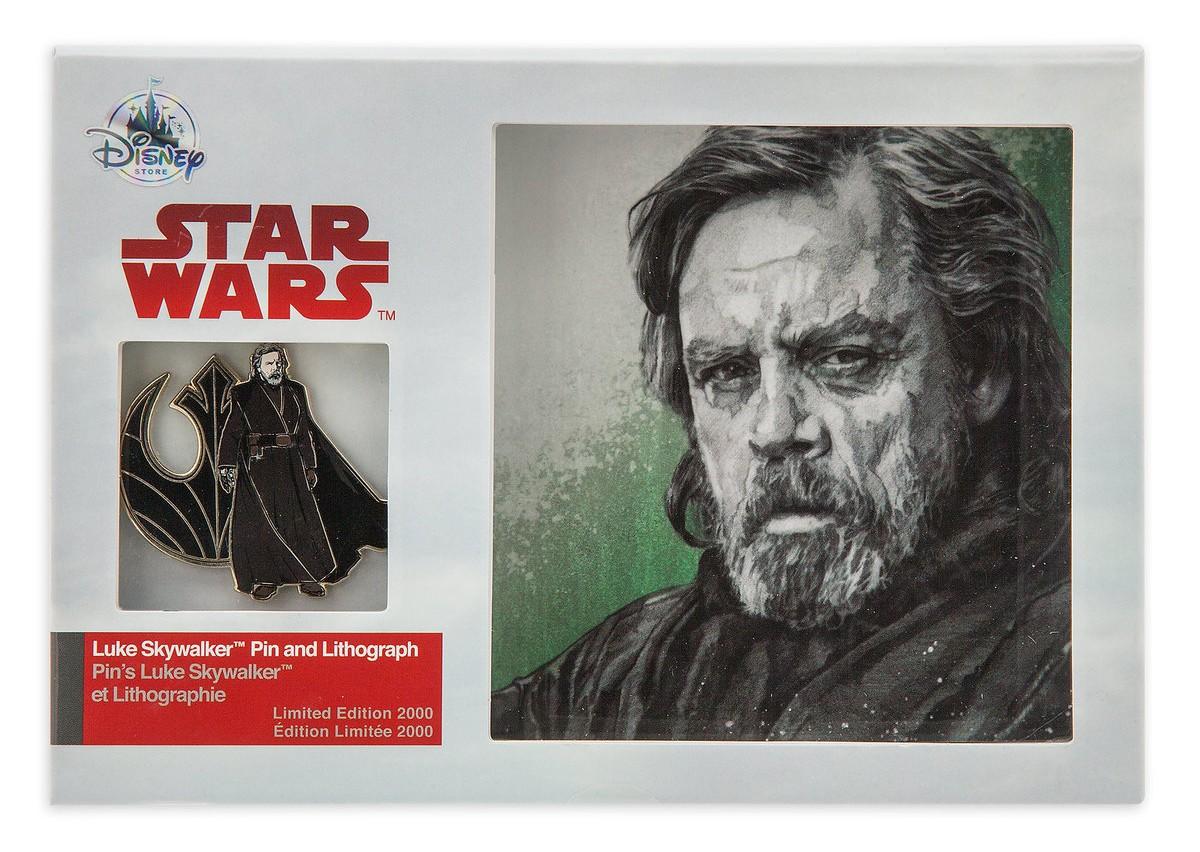 TLJ Luke Skywalker Pin & Lithograph Set 1