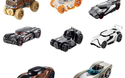 New Last Jedi Hot Wheels Die Cast Character Car Set available on ShopDisney.com