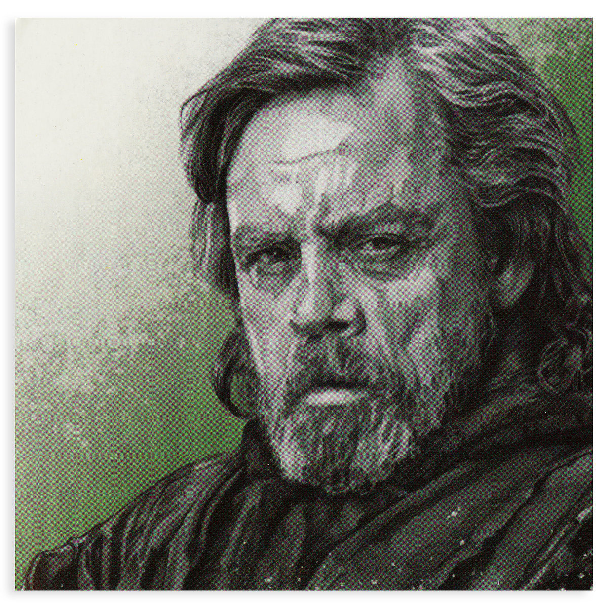 TLJ Luke Skywalker Pin & Lithograph Set 3
