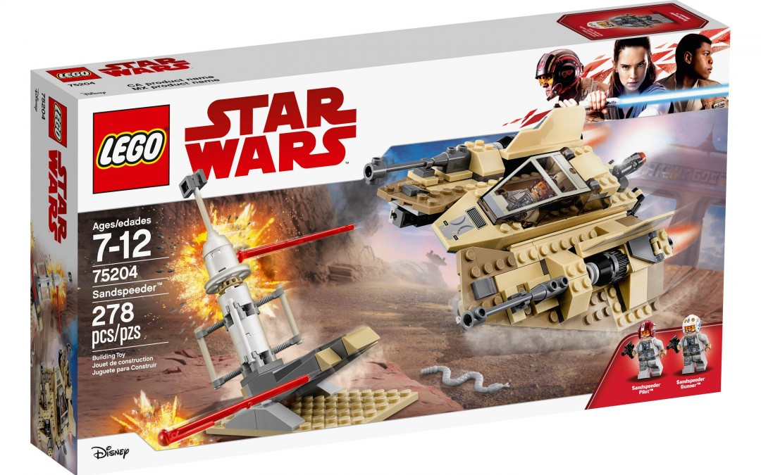 New Last Jedi Sandspeeder Lego Set available on Target.com