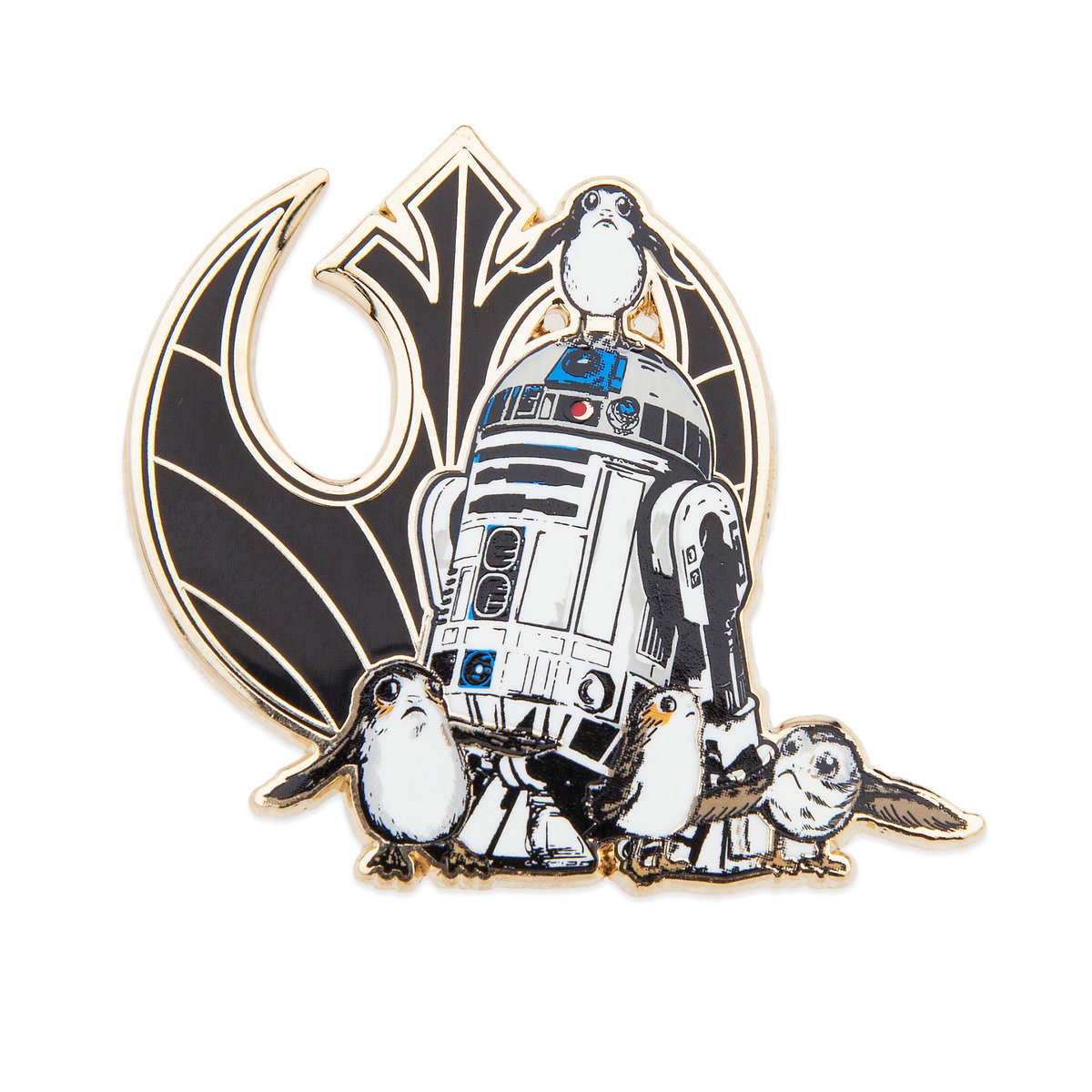 TLJ R2-D2 and Porgs Pin and Lithograph Set 2