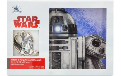 New Last Jedi R2-D2 and Porgs Pin and Lithograph Set available on ShopDisney.com