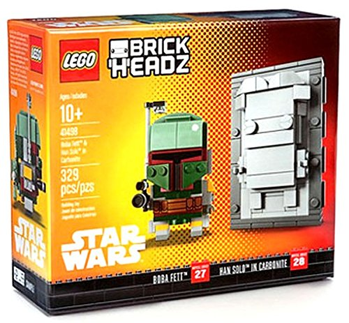 ROTJ Boba Fett & Han Solo in Carbonite Lego BrickHeadz Set