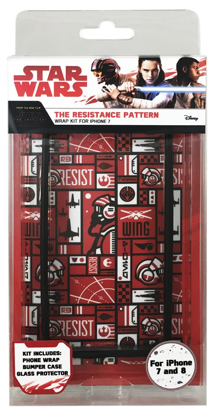 TLJ Resistance Pattern iPhone 7 & 8 Wrap Kit 1