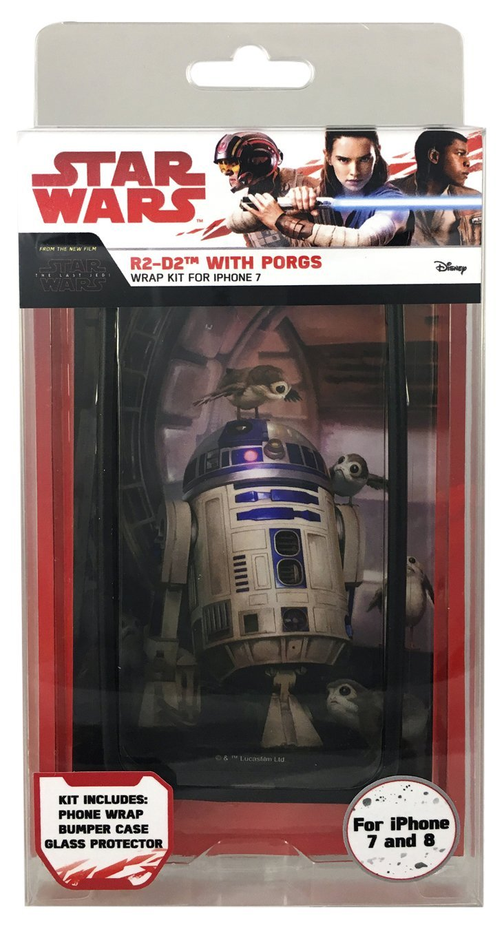 TLJ R2-D2 with Porgs iPhone 7 & 8 Wrap Kit 1