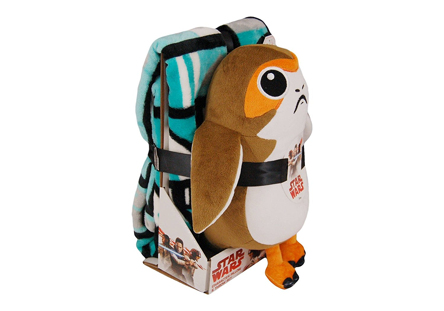 TLJ Porg Throw Blanket & Pillow Buddy 1