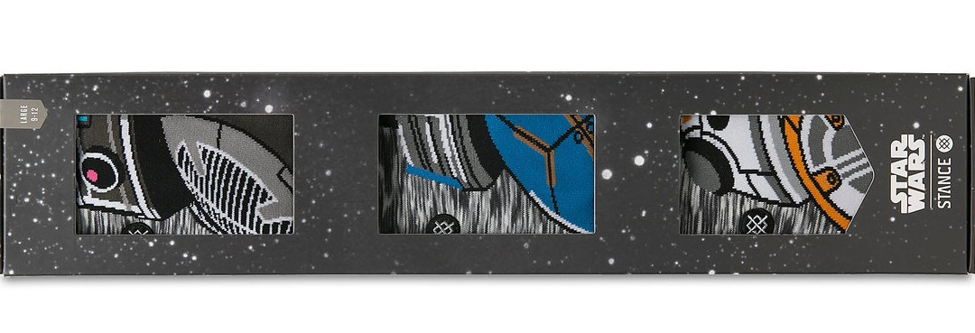 New Last Jedi BB Unit Droid Adult Socks Gift Pack available on ShopDisney.com