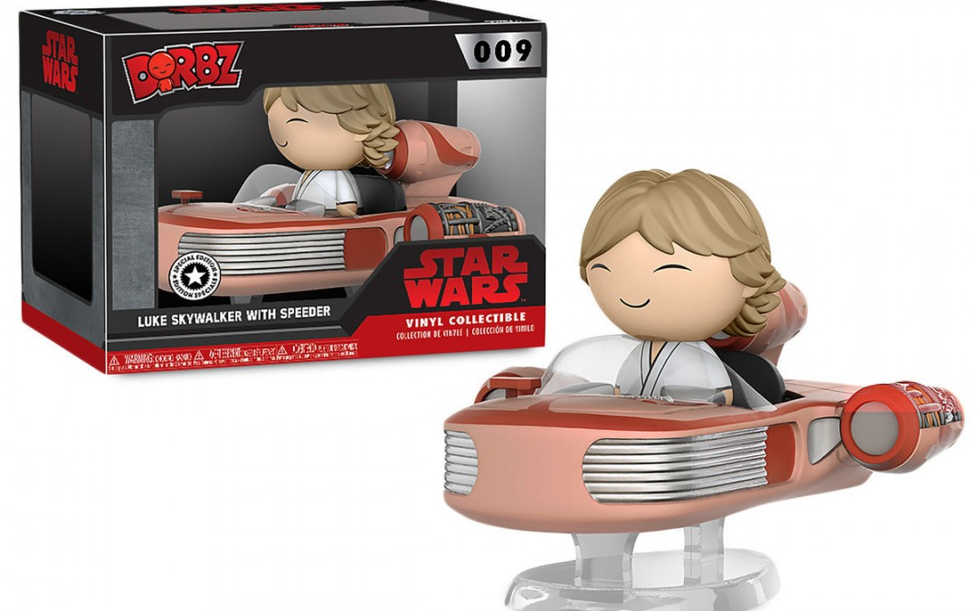 New A New Hope Luke Skywalker with Speeder Dorbz Vinyl Figure Set available on ShopDisney.com
