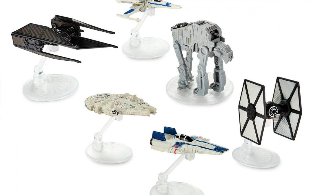 New Last Jedi Hot Wheels Die Cast Starships Set available on ShopDisney.com