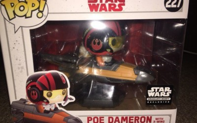 New Last Jedi Funko Pop! Poe Dameron with X-Wing Fighter Figure Set available on Amazon.com