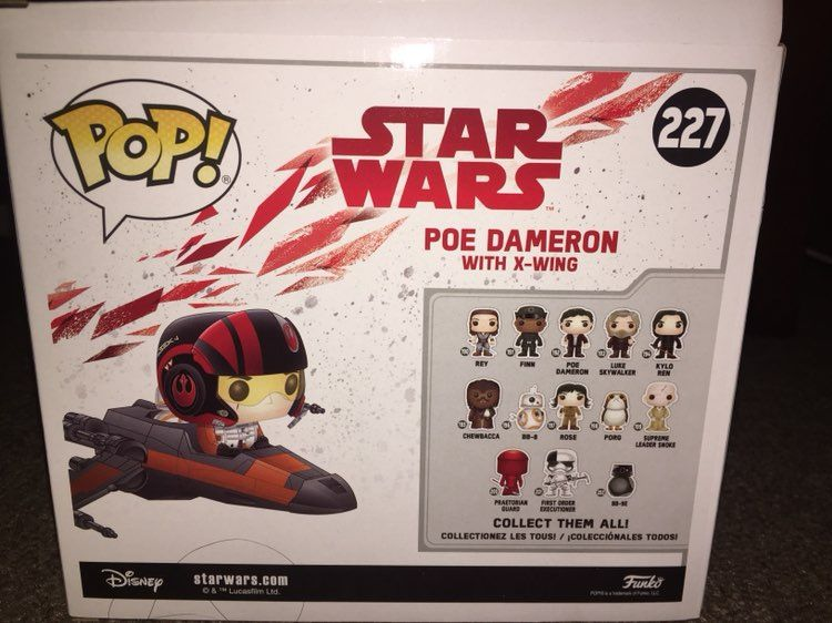 TLJ FP Poe Dameron with X-Wing Fighter Figure Set 2