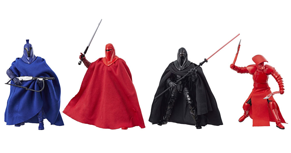 New Last Jedi Black Series Exclusive Guard Figure 4 Pack available on Amazon.com