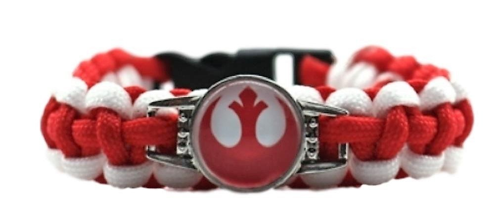 SW Red Rebel Forces Logo Paracord Braided Bracelet