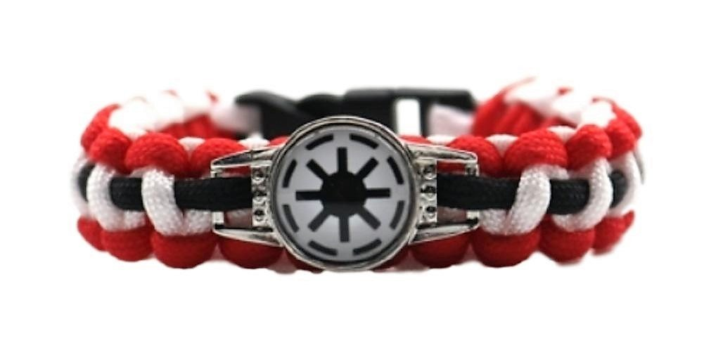 SW Imperial Forces Logo Paracord Braided Bracelet
