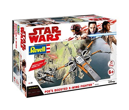 TLJ Build & Play Poe's Boosted X-Wing Fighter Sound & Light Up Model Kit 1