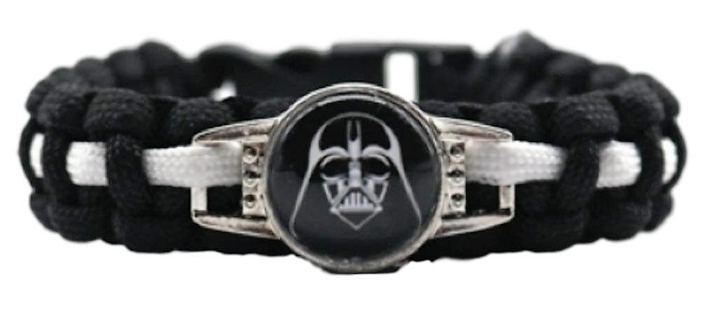 SW Darth Vader Character Logo Paracord Braided Bracelet
