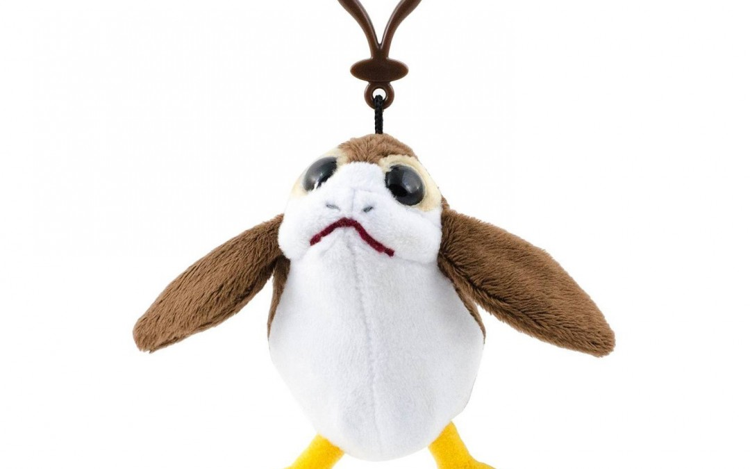 New Last Jedi Porg Talking Plush Toy Backpack Clip available on Amazon.com