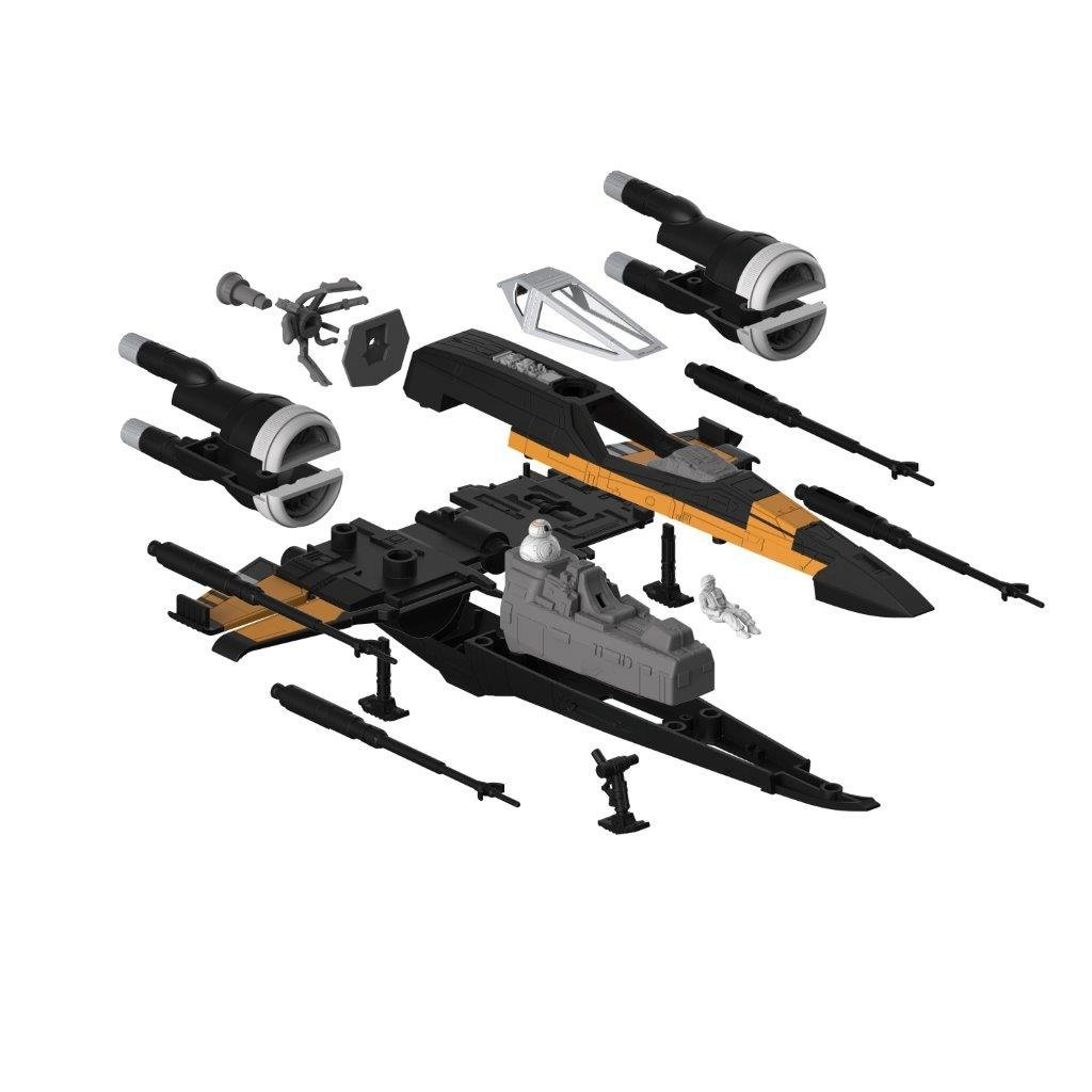 TLJ Build & Play Poe's Boosted X-Wing Fighter Sound & Light Up Model Kit 3