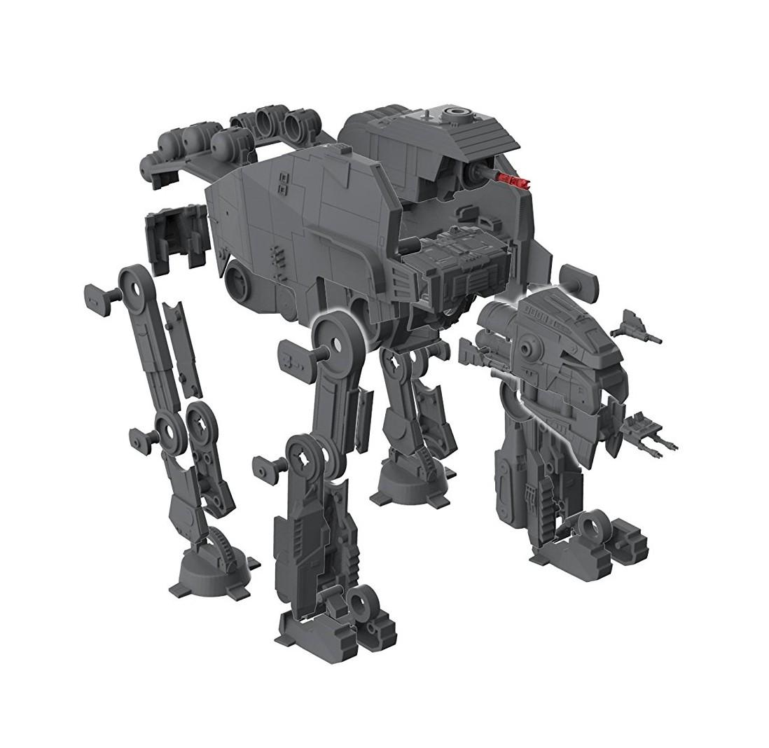 TLJ Build & Play First Order Heavy Assault Walker Sound & Light Up Model Kit 3