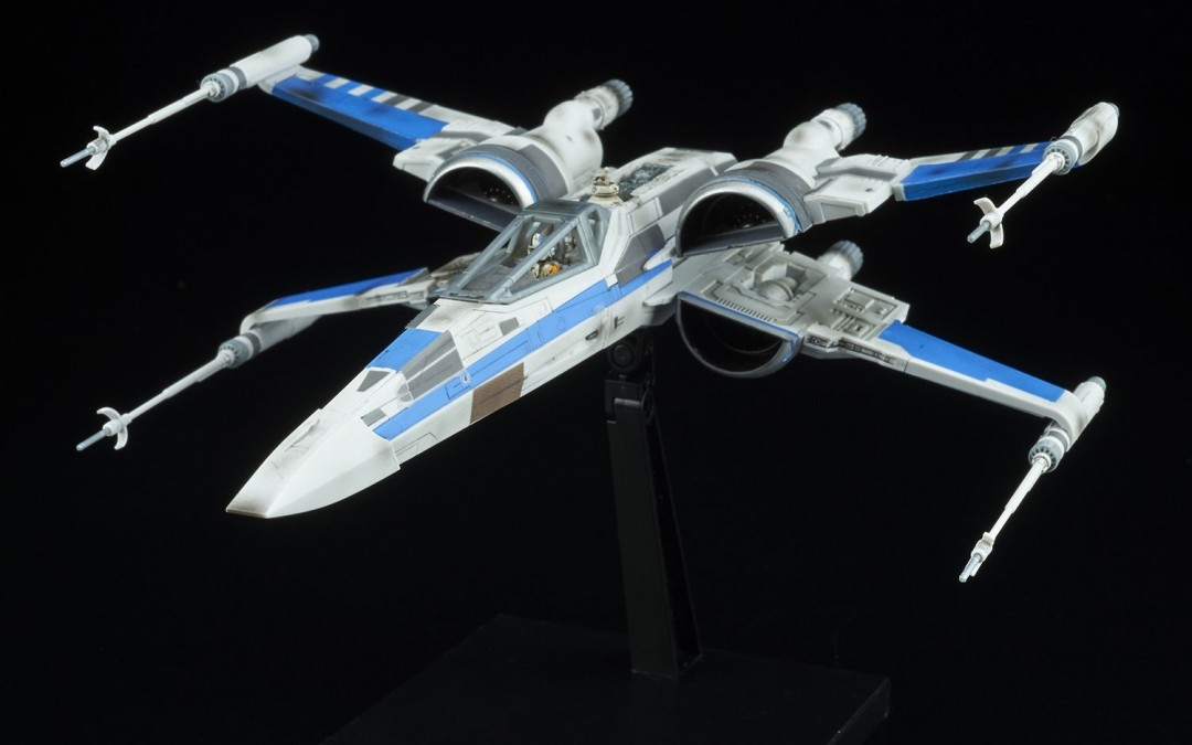 New Last Jedi Blue Squadron Resistance X-Wing Fighter Model Kit available on Amazon.com