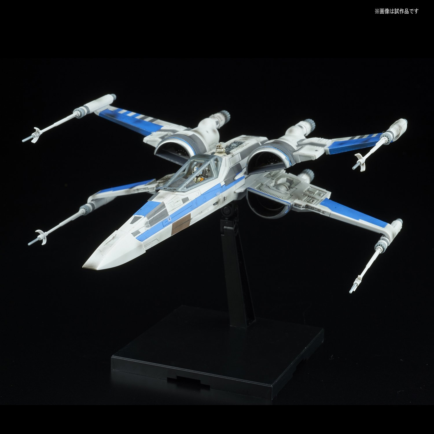 TLJ Blue Squadron Resistance X-Wing Fighter Model Kit 1