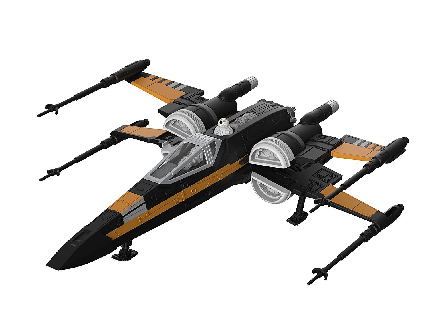 TLJ Build & Play Poe's Boosted X-Wing Fighter Sound & Light Up Model Kit 2