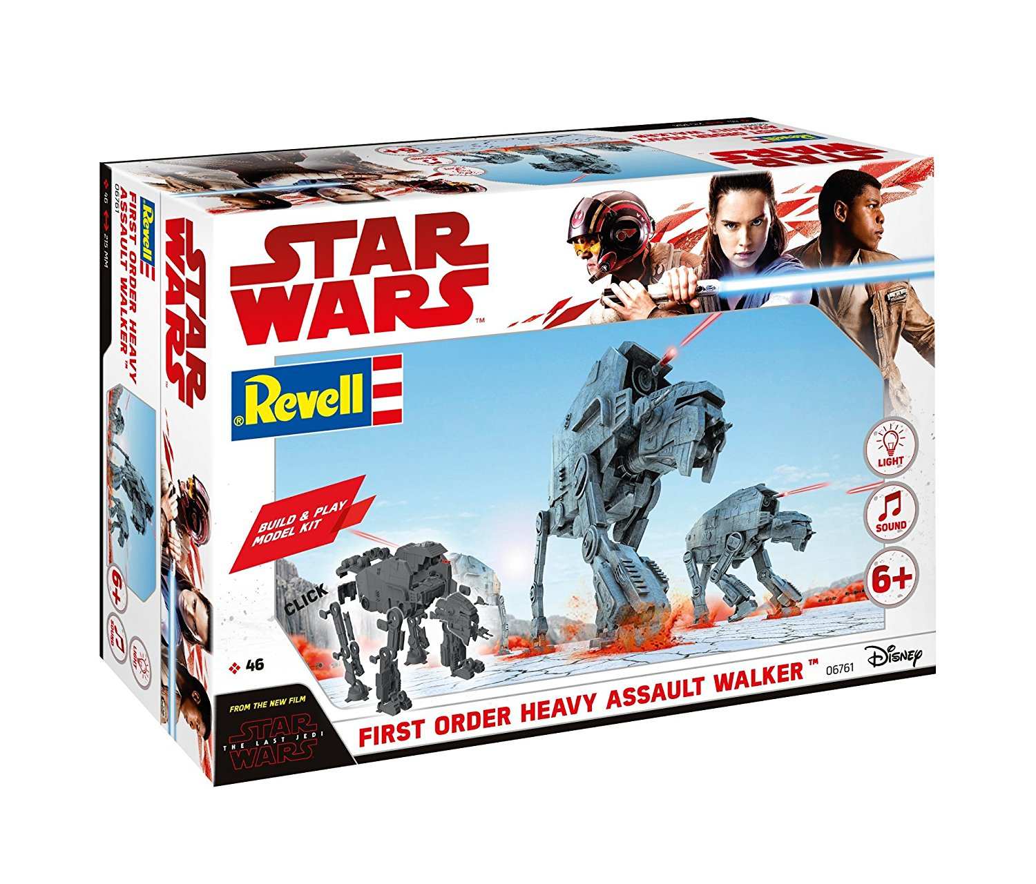 TLJ Build & Play First Order Heavy Assault Walker Sound & Light Up Model Kit 1