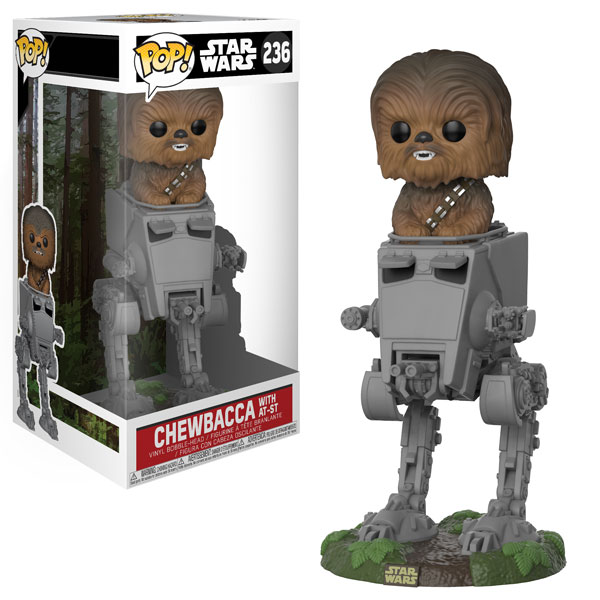 New Return of The Jedi Funko Pop! Chewbacca with AT-ST Bobble Head Toy coming soon!