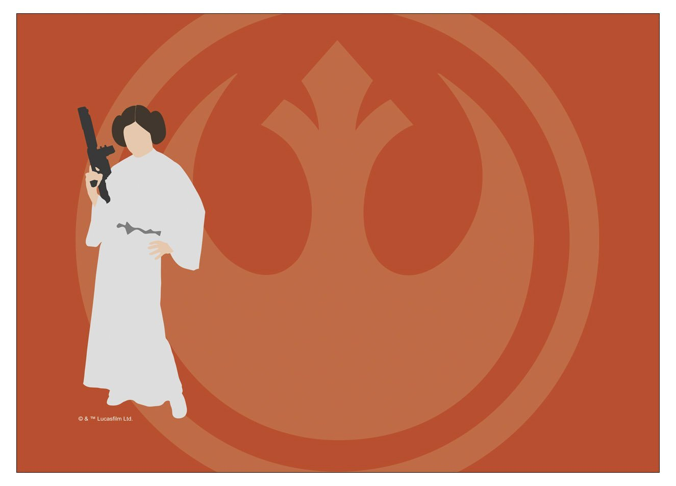 TLJ Princess Leia, Rebellion Laptop Wrap 2
