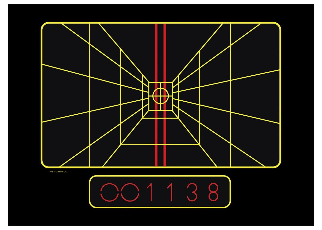 TLJ X-Wing Targeting Computer Laptop Wrap 2